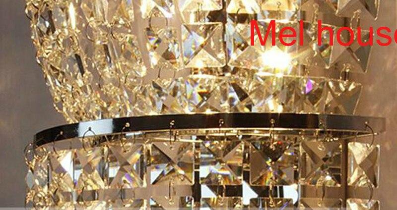 Lampada da parete di cristallo decorativo montato luce sconce