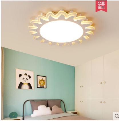 Children's room ceiling lamp girl boy led eye protection bedroom lamp warm simple modern sun flower room light