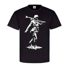 2019 sommer Marke Kleidung Alter Soldat Mit MG34 Maschinengewehr Wh Zweiter Weltkrieg T-Shirt Neuheit T Shirt