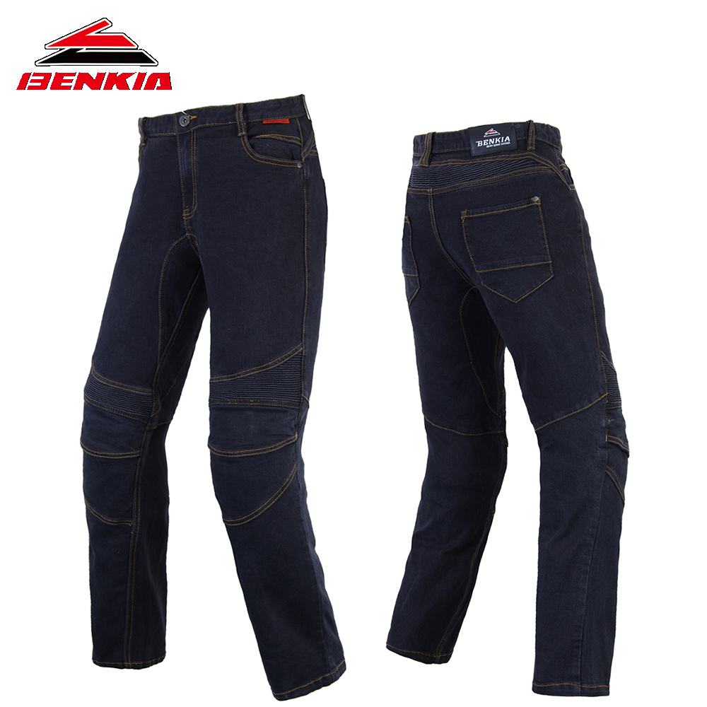 BENKIA Motorcycle Pants Windproof Moto Jeans Man Motorbike Racing Pants Pantalon Motorbike Pants Motorcycle Trousers PC43 tkosm motorcycle pants riding road motor windproof pants jeans men trousers racing windproof motorbike pants with knee pads