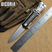 DICORIA RIKE Multi função ball bearing dobrável faca VG10 lâmina de alumínio do punho facas de caça sobrevivência acampamento ao ar livre ferramenta EDC|Facas| |  -