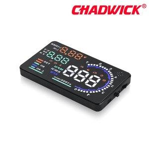 Image 4 - CHADWICK A8 HUD 자동차 헤드 업 디스플레이 LED 윈드 스크린 프로젝터 OBD2 스캐너 속도 경고 연료 소비 데이터 진단 5.5 인치