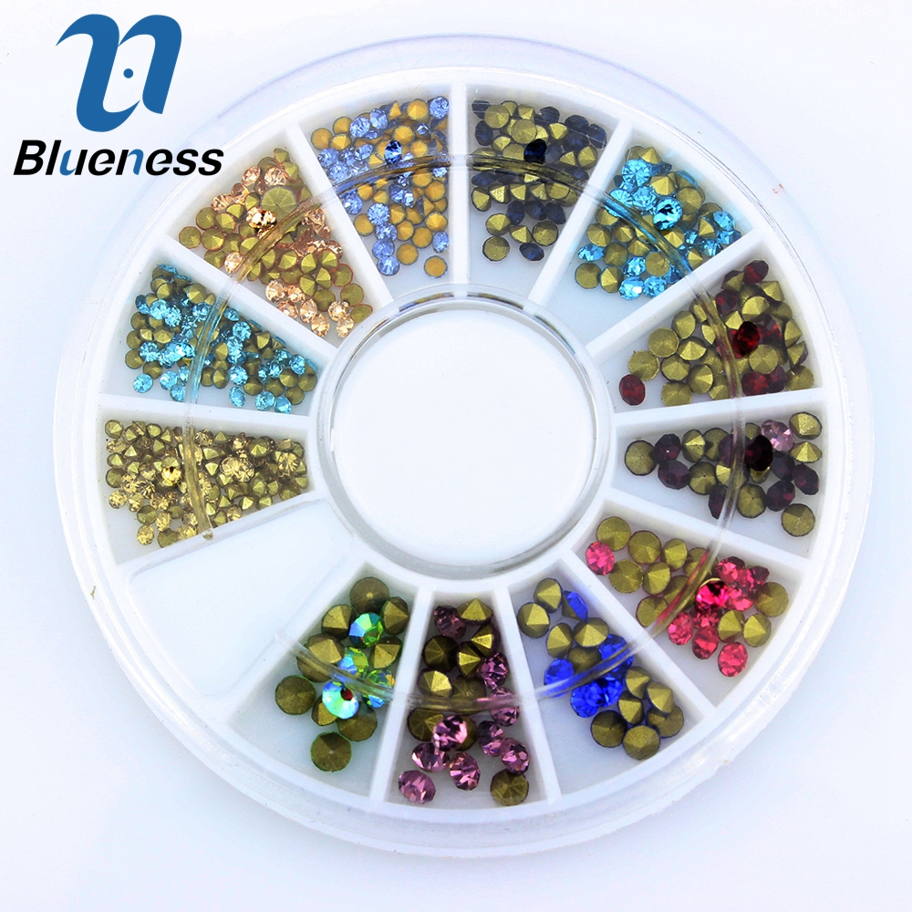 Blueness Color Mixed Charms 3D Nail Art Design Decoration Rhinestones For Nail Art Acrylic Beads for Nails Manicure Supplies 0 8mm 20000pcs colorful mini nail art beads gardient rhinestones 3d tip decoration for nail uv gel manicure nail art decorations