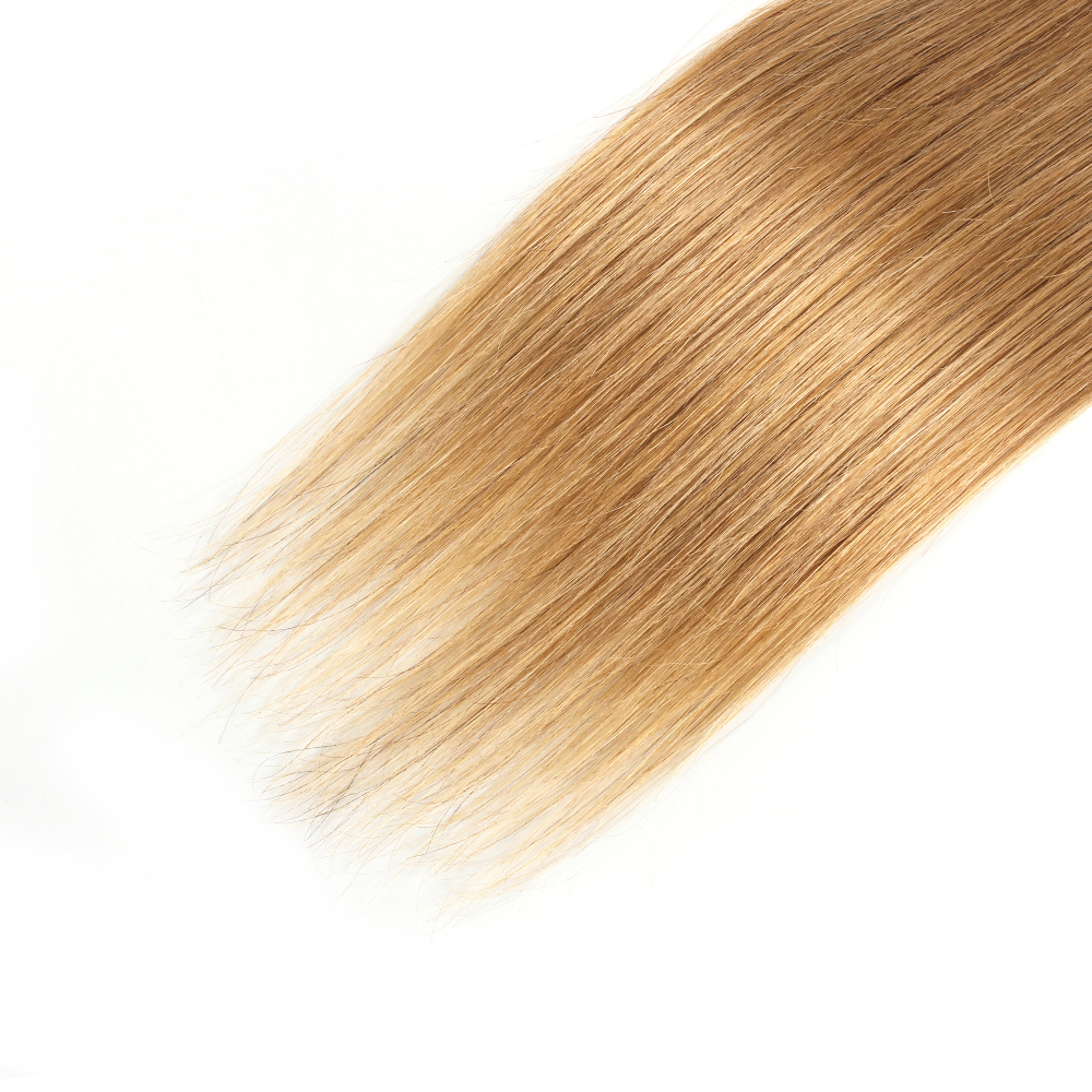 HTB19jI8OVYqK1RjSZLeq6zXppXaj Bobbi Collection 4/6 Bundle with Closure 50g/pc Brazilian Ombre Honey Blonde Hair with Lace Closure Straight Remy Human Hair