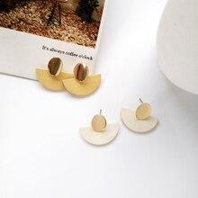 Fashion jewelry simple geometric shape earrings trend aesthetic creative street patting without ear hole clip women