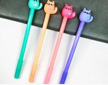 New Lovely Cat Style Gel Pen Cute Cartoon Stationery Prize Gift Kawaii Office Writing Student Needle Ink 0.5mm 48pc