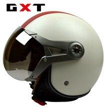 Мода марка GXT мотоциклетный шлем ретро 3/4 шлем урожай скутер открыть шлем мото каско искусственная кожа motocicleta capacete