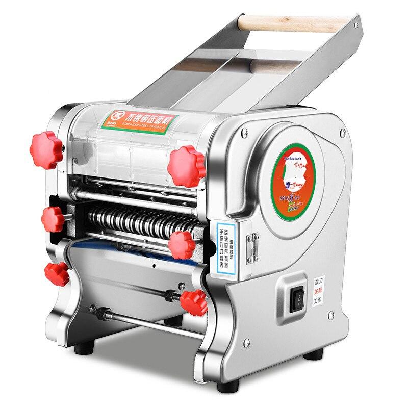 Fabricante de macarrão casa máquina da imprensa de aço inoxidável noodle elétrica multi-funcional wrappers rolo automático comercial.