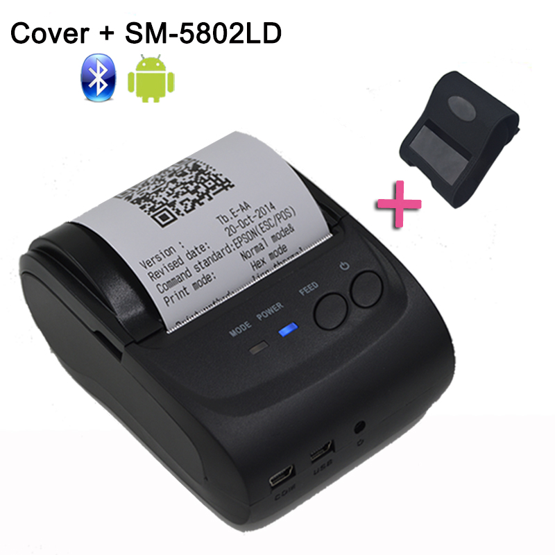 58mm Portable Bluetooth Printer Adroid Mobile Printer Mini Printer Free with SDK + Belt Case цена
