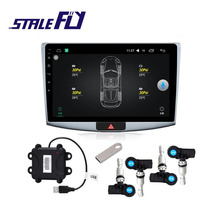 2017 Latest Automotive Stress Alarm System TPMS With four Sensors for Operational System Android DVD Participant Automotive Tire Securie F35