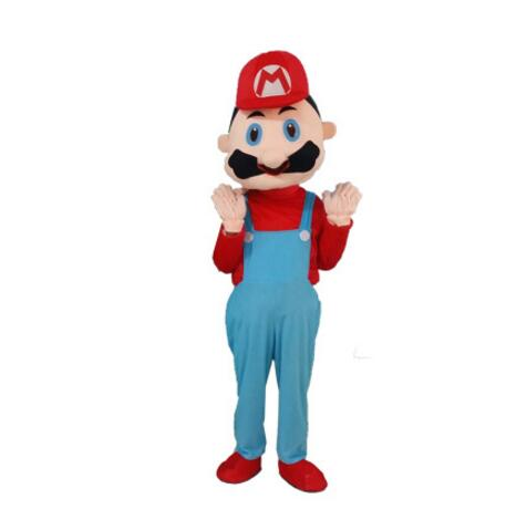 Haute qualité EVA matériel casque personnalisation rapide Mario mascotte Costumes unisexe dessin animé vêtements - 2