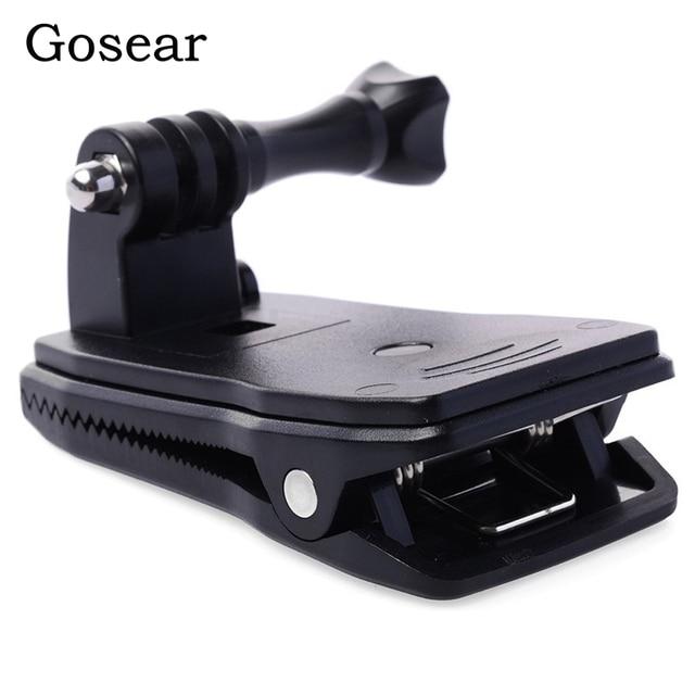 Gosear Cabeça Backpack Strap Clipe Grampo Suporte Adaptador de Montagem Suporte para Gopro Go Pro Herói 5 4 3 2 Xiaomi Yi II 4 K H9 Eken SJ4000