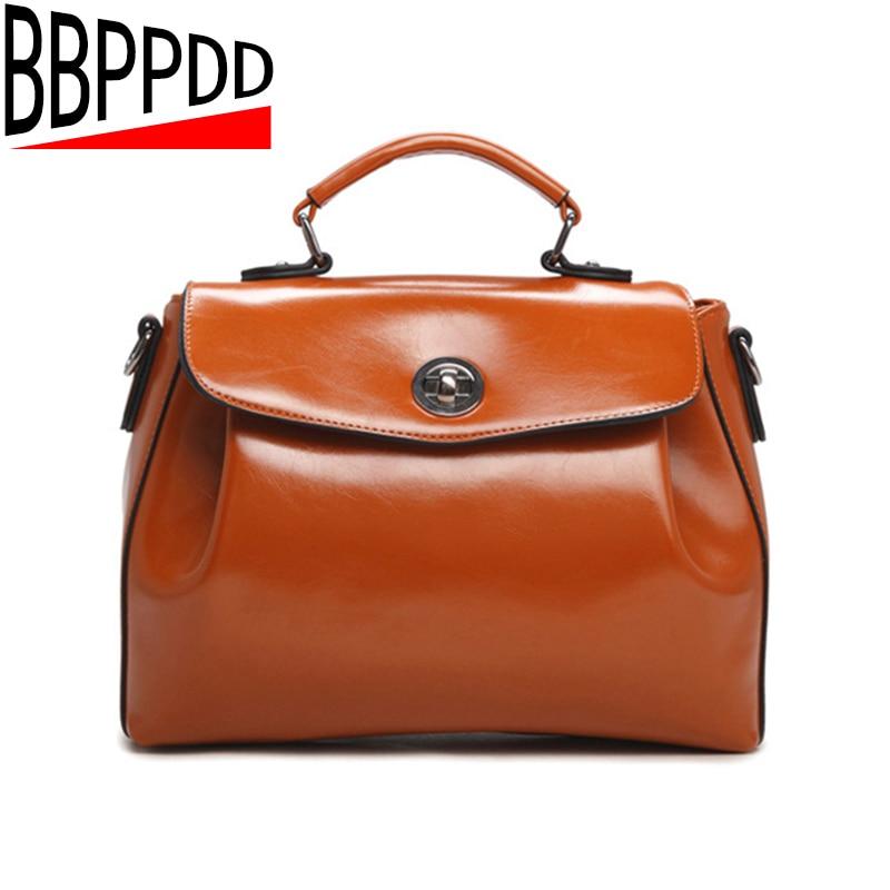 Women Vintage messenger bag New Fashion Women Shoulder bag stamp women leather handbag Women Cross body Bags