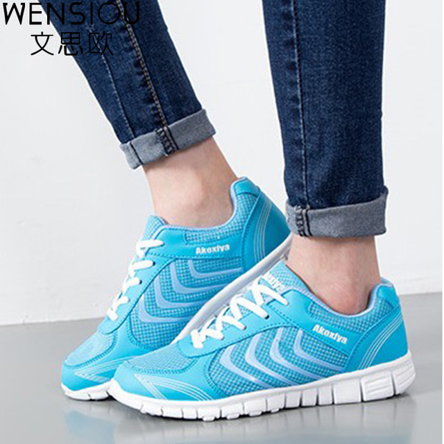 Fashion women flats Breathable Mesh Women Casual Shoes Lightweight Platform gym shoes Comfortable Women summer Shoes 2017 RDT103