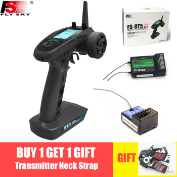 цены Flysky FS-GT5 2.4G 6CH Transmitter with FS-BS6 Receiver Built-in Gyro Fail-Safe for RC Car Boat