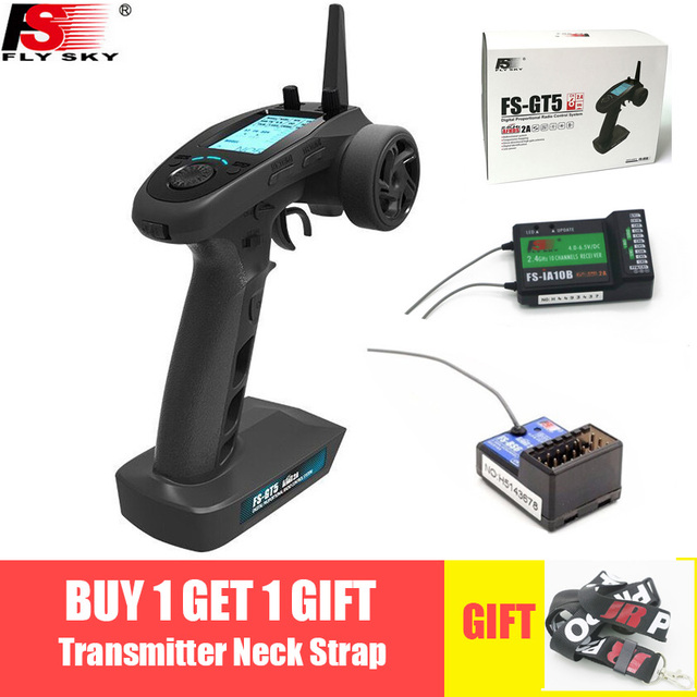 Flysky FS-GT5 2.4G 6CH Transmitter with FS-BS6 Receiver Built-in Gyro Fail-Safe for RC Car Boat