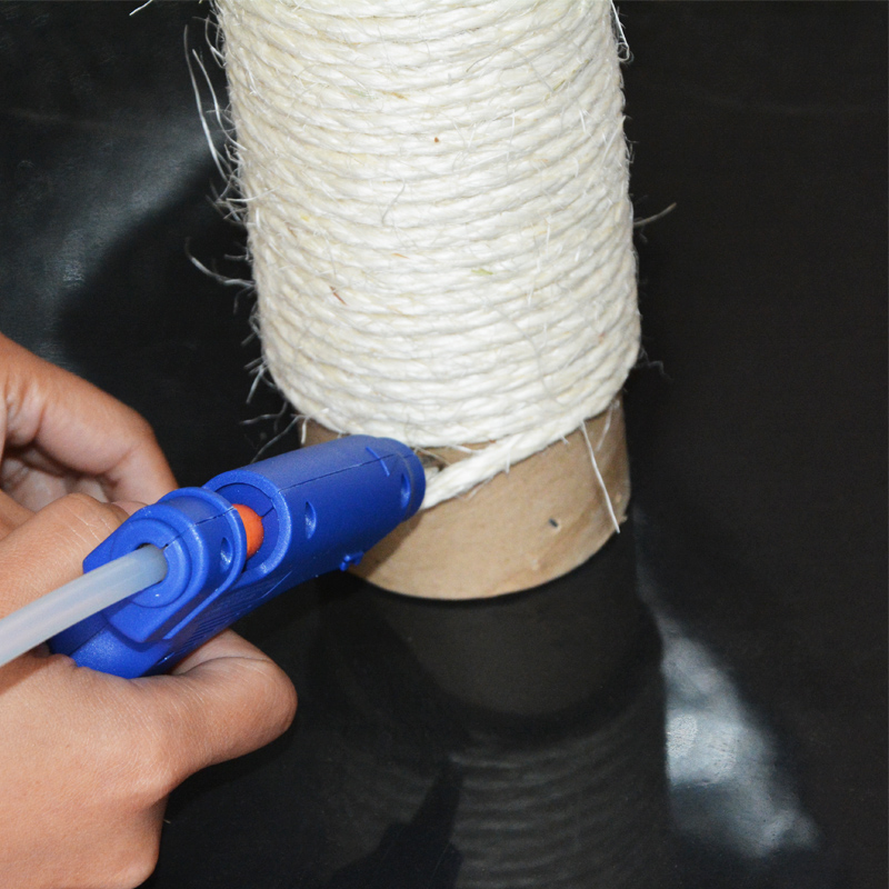 how to make a cat tree glue rope