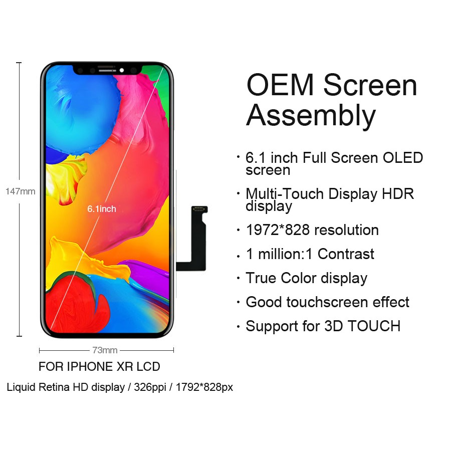 Image 3 - Original LCD For iPhone X Xs Max XR LCD Display For Tianma OEM Touch Screen LCDS With Digitizer Replacement Assembly Parts-in Mobile Phone LCD Screens from Cellphones & Telecommunications