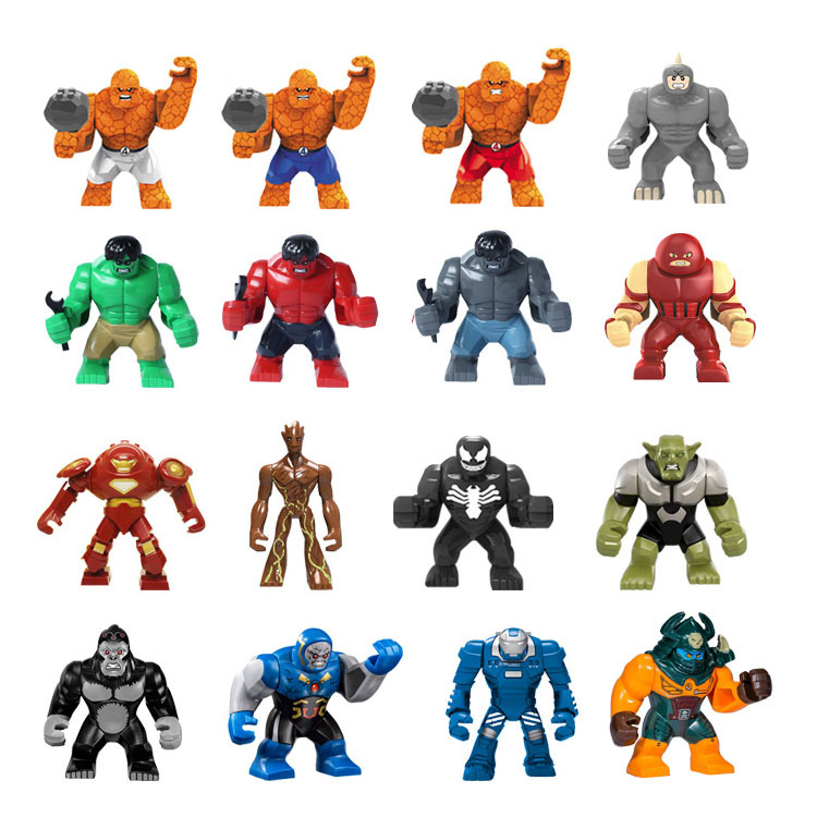Single Big Size Red Hulk Buster Venom Green Goblin Thing Building Block Rhino Figures Bricks Toy For Children Kid Gifts Tree man