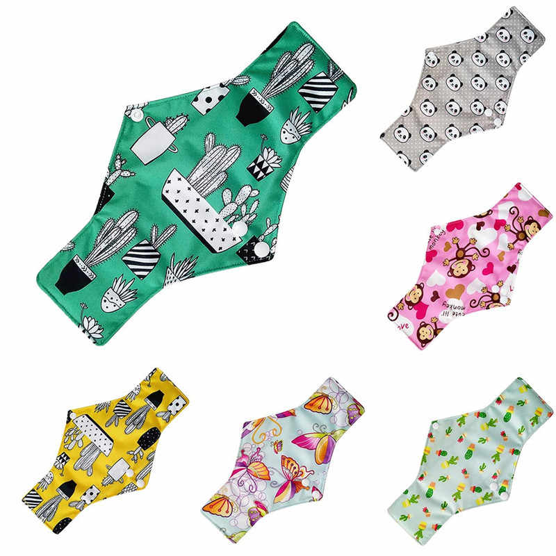 1PC Sanitary Pad Cartoon Printed Reusable Bamboo Cloth Washable Menstrual Pad Mama Sanitary Towel Pad 2019 New Fashion Panties