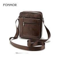 Men Messenger Bags Luxury Genuine Leather Men Bag Designer High Quality Shoulder Bag Casual Zipper Office