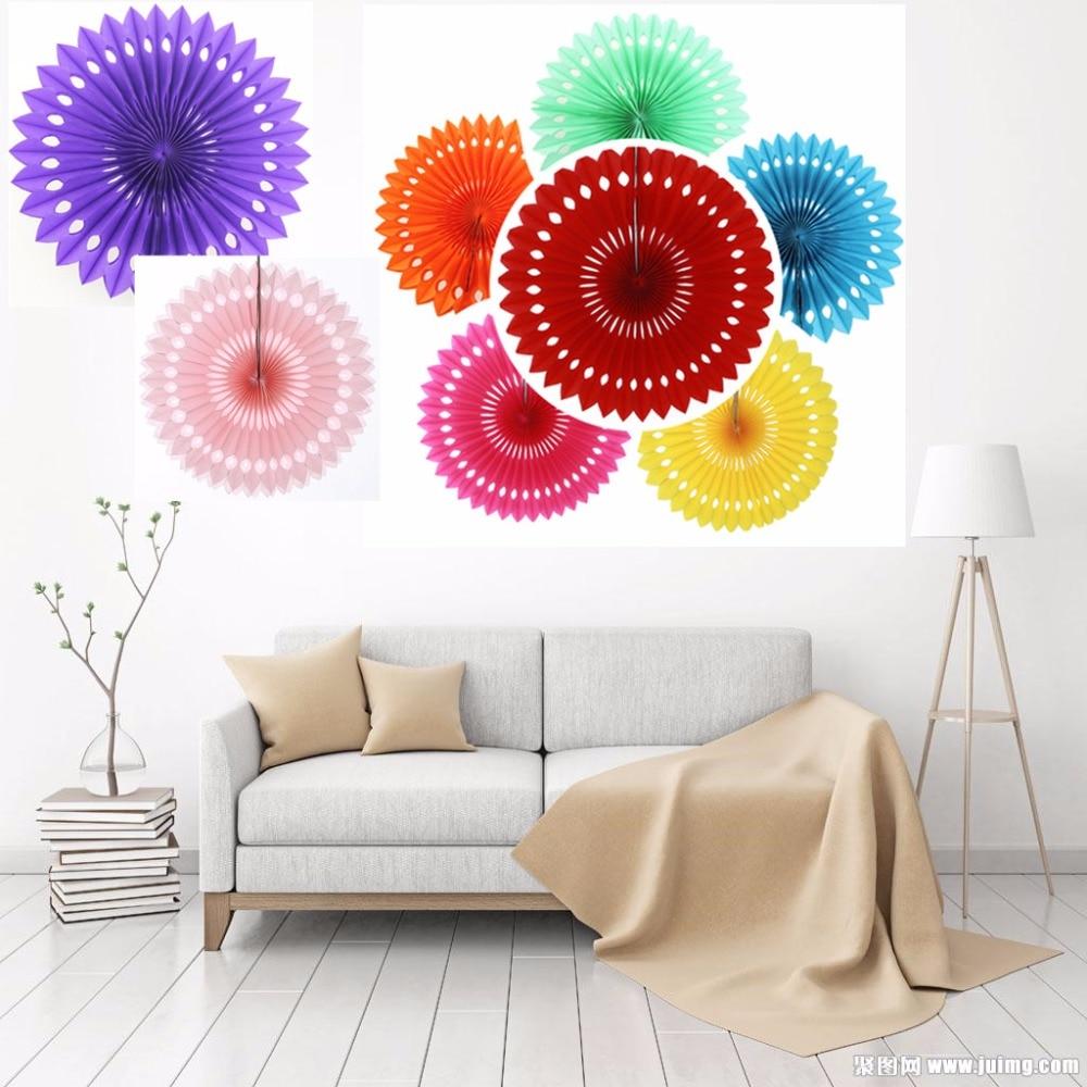 12inch Tissue Hanging Round Paper Fans For Home Garden Wedding Kids ...