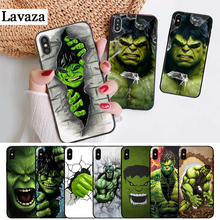 Lavaza Marvel Comic Superhero Hulk Painted Silicone Case for iPhone 5 5S 6 6S Plus 7 8 11 Pro X XS Max XR