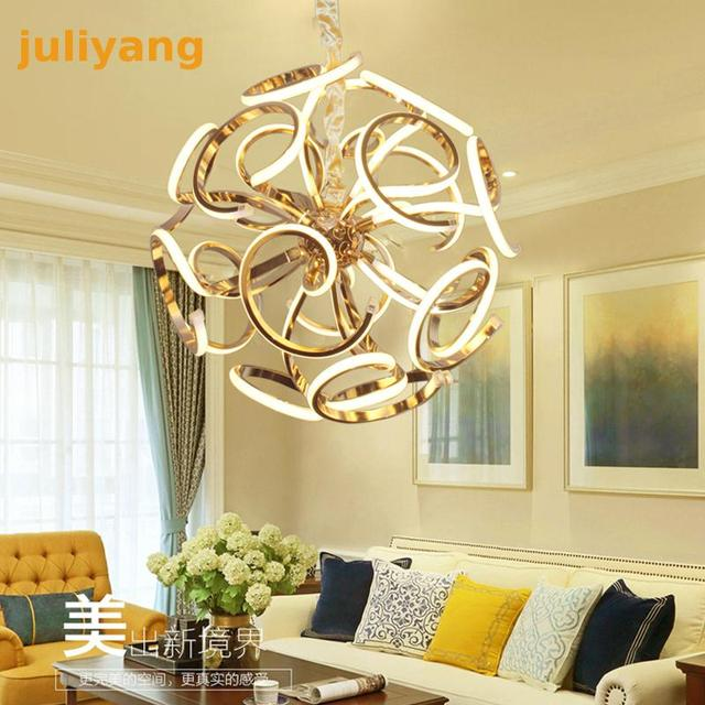 Led post-modern luxury villa hotel living room lights creative personality simple art ball bedroom restaurant chandeliers