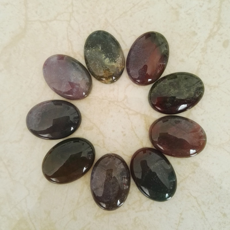 top quality Nature Stone India onyx beads 12pcs charm cab cabochon Oval shape Beads for jewelry making beads Free shipping