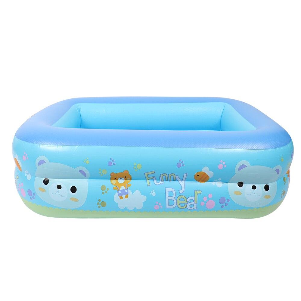 Été en plein air bébé dessin animé piscine gonflable carré famille enfants épaissi jouer piscine d'eau enfants vacances cadeaux p40 - 3