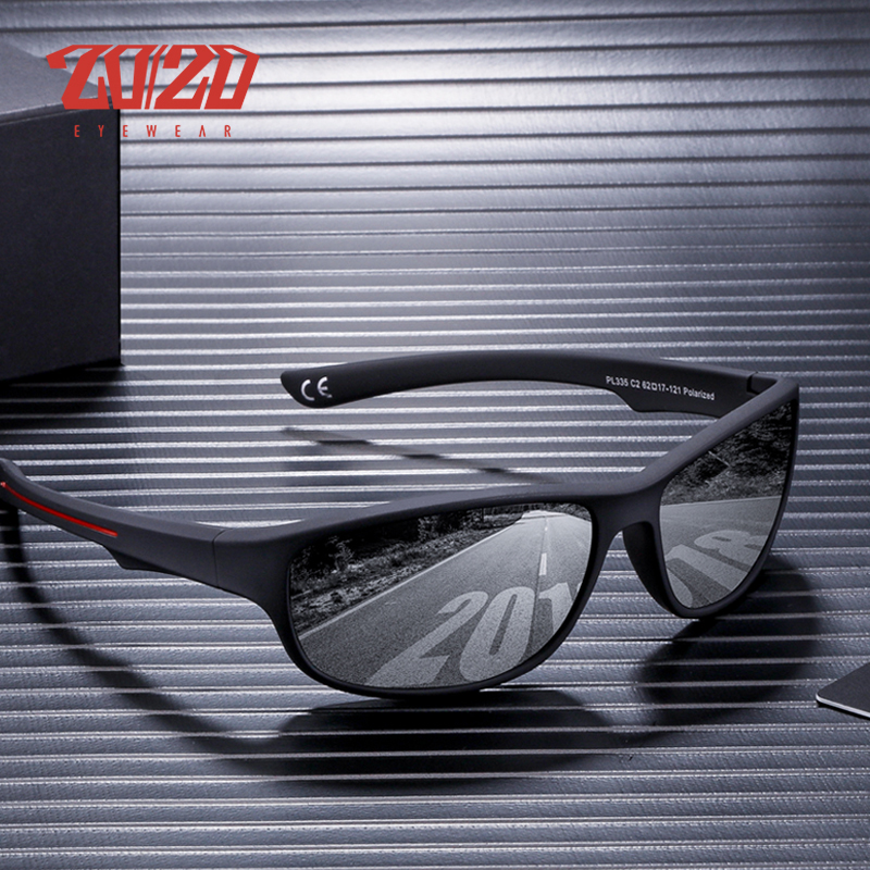 20/20 diseño De la marca gafas De Sol polarizadas De viaje para hombres, gafas De Sol De moda De los hombres De plástico De la conducción gafas De Sol