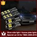 Noite Senhor 4 pcs livre de Erros T10 Luzes Apuramento Carro Placa Luz de Sinal LED Branco CANBUS para Nissan TIIDA 2008-2010