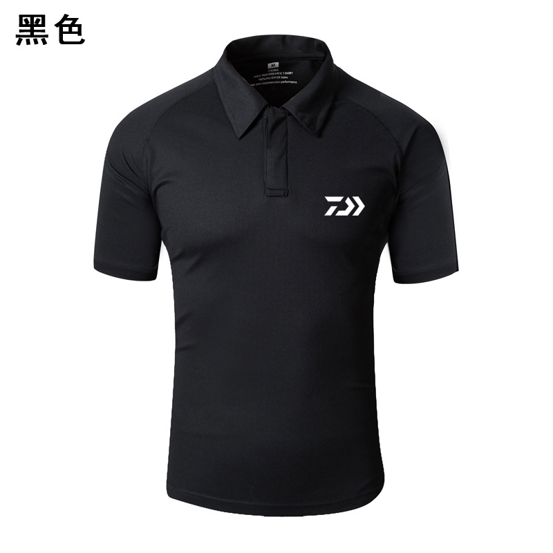 Summer Autumn New Daiwa Outdoor Sports Men Fishing Clothing Camouflage Quick-Drying Breathable Short Sleeve Fishing Polo T Shirt