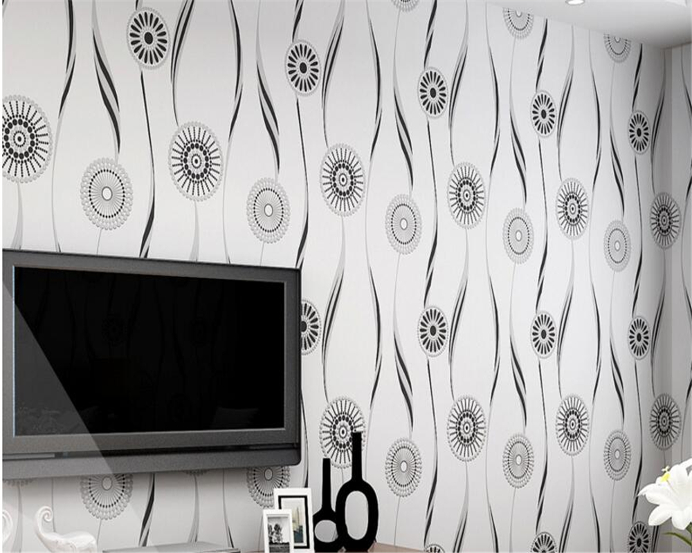 beibehang papel de parede Modern Simple Nonwovens Wallpaper 3D Stereo Relief Flocking Scarletine Sun Full Wallpaper wall paper