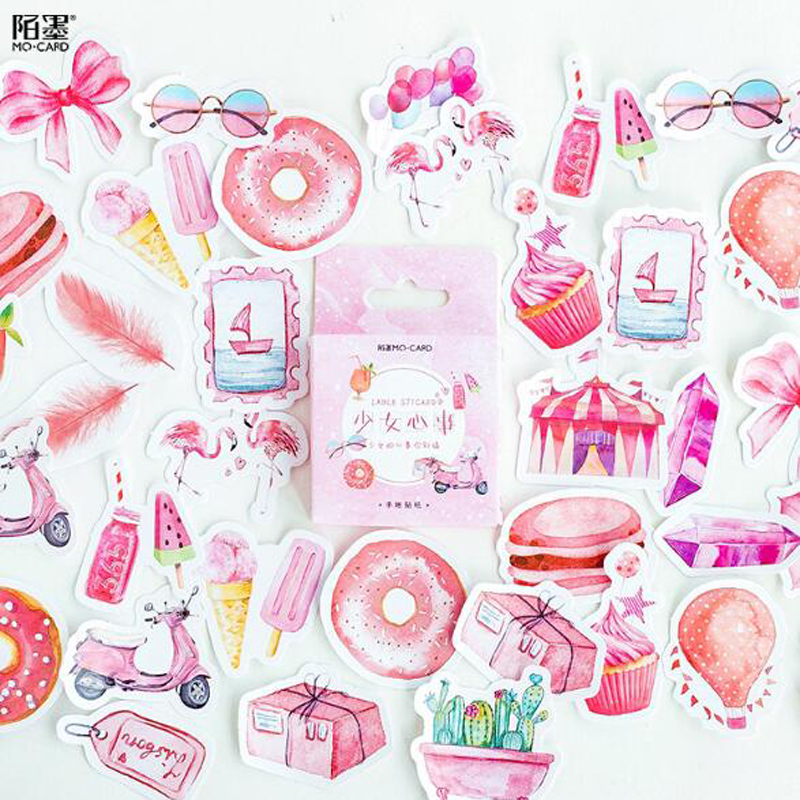 NEW Creative Sweet Girls Heart Decorative Stationery Stickers Scrapbooking DIY Diary Album Stick Label 46 pcs/box NEW Creative Sweet Girls Heart Decorative Stationery Stickers Scrapbooking DIY Diary Album Stick Label 46 pcs/box