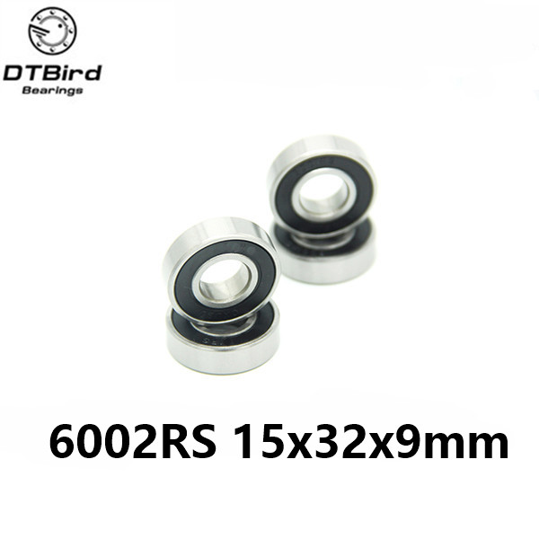 1pcs 6002-2RS 6002RS 6002 hybrid ceramic ball15*32*9mm deep groove ball bearing 15x32x9mm for bicycle part free shipping 6806 full si3n4 p5 abec5 ceramic deep groove ball bearing 30x42x7mm 61806 full complement
