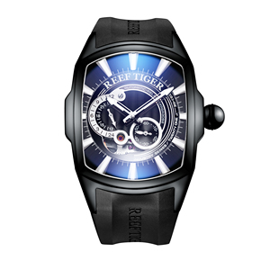 Image 5 - 2020 Reef Tiger/RT New Arrival Sports Mens Automatic All Black Rubber Strap Waterproof Watch RGA3069S