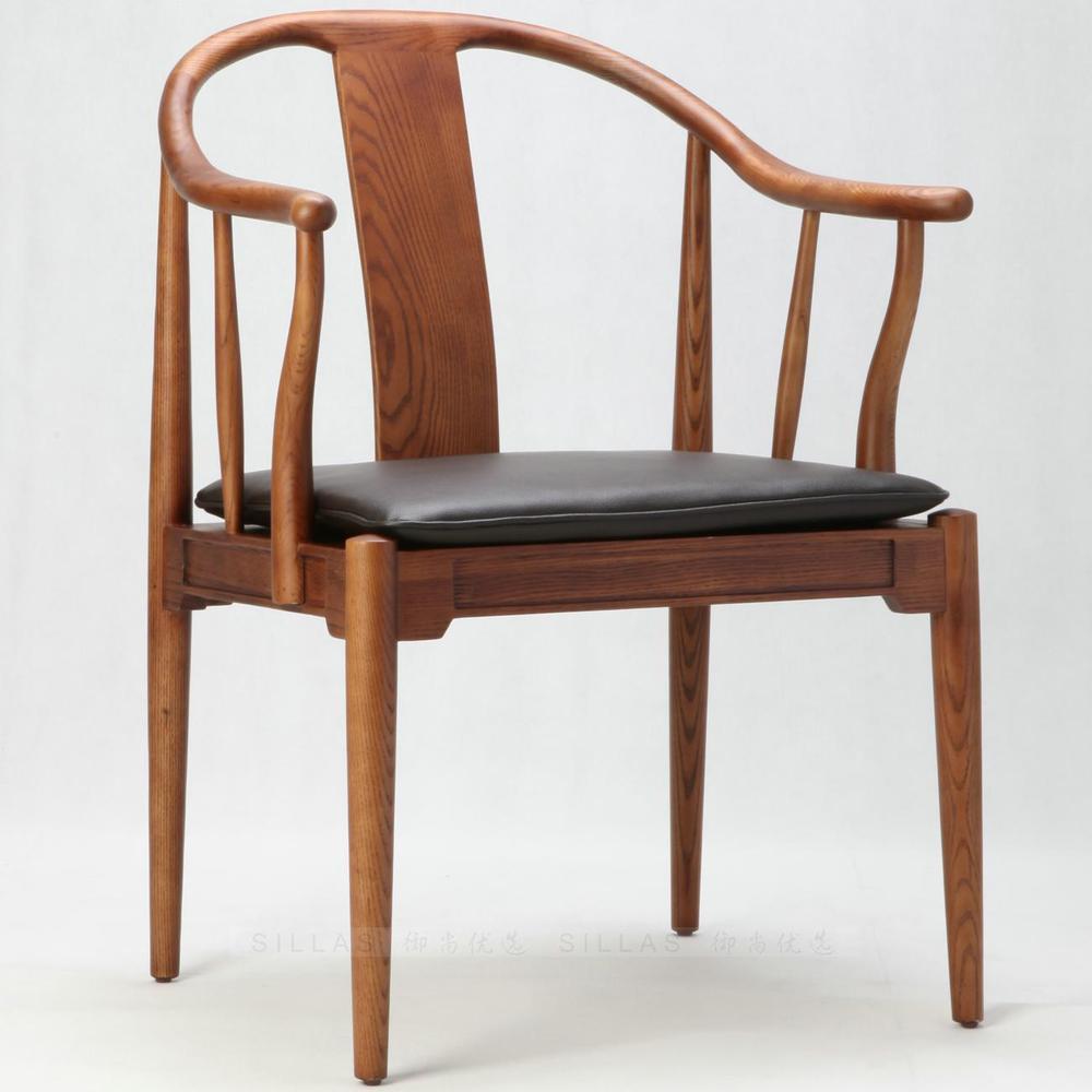 Danish Designer Wood Armchair Scandinavian New Chinese Ming Style Chair Modern