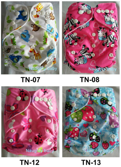 50 Sets 1+1 New Design Printed  Reuseable Washable Pocket Cloth Diaper Nappy With Micorfiber Insert  Free Shipping TN patterns