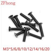 1000pcs/lot DIN7991 M3*5/6/8/10/12/14/16/20 Grade10.9 Hex Hexagon Socket Flat Countersunk Head machine screw