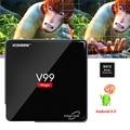 Lo nuevo V99 CAJA de TV 2 GB/16 GB Android 6.0 Smart TV Caja Amlogic S912 OCTA Core CPU 2.4G Dual Wifi 4 K H.265 Decodificador Medios jugador