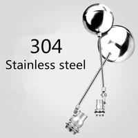 304 Stainless Steel floating ball valve DN15 DN100 Cold and Hot Water oil corrosive media Tank Water Flow control valve