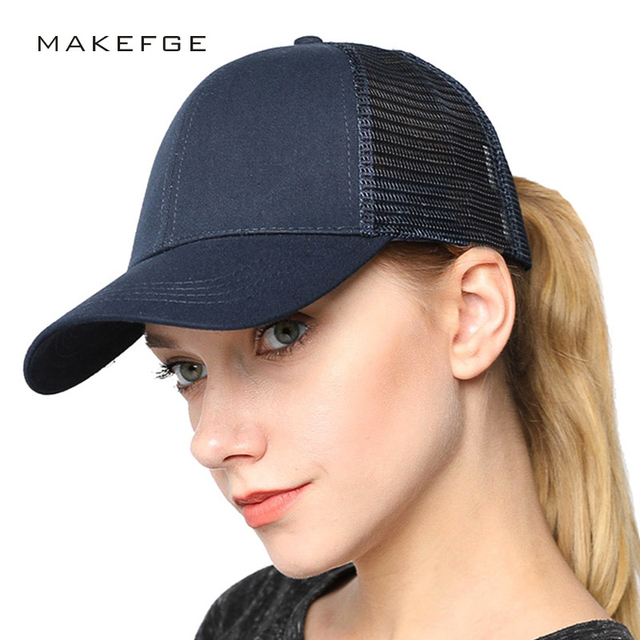 0287d999b56 baseball cap women 2018 New Fashion Women Ponytail Cap Messy Bun Baseball  Cap Adjustable Band Snapback