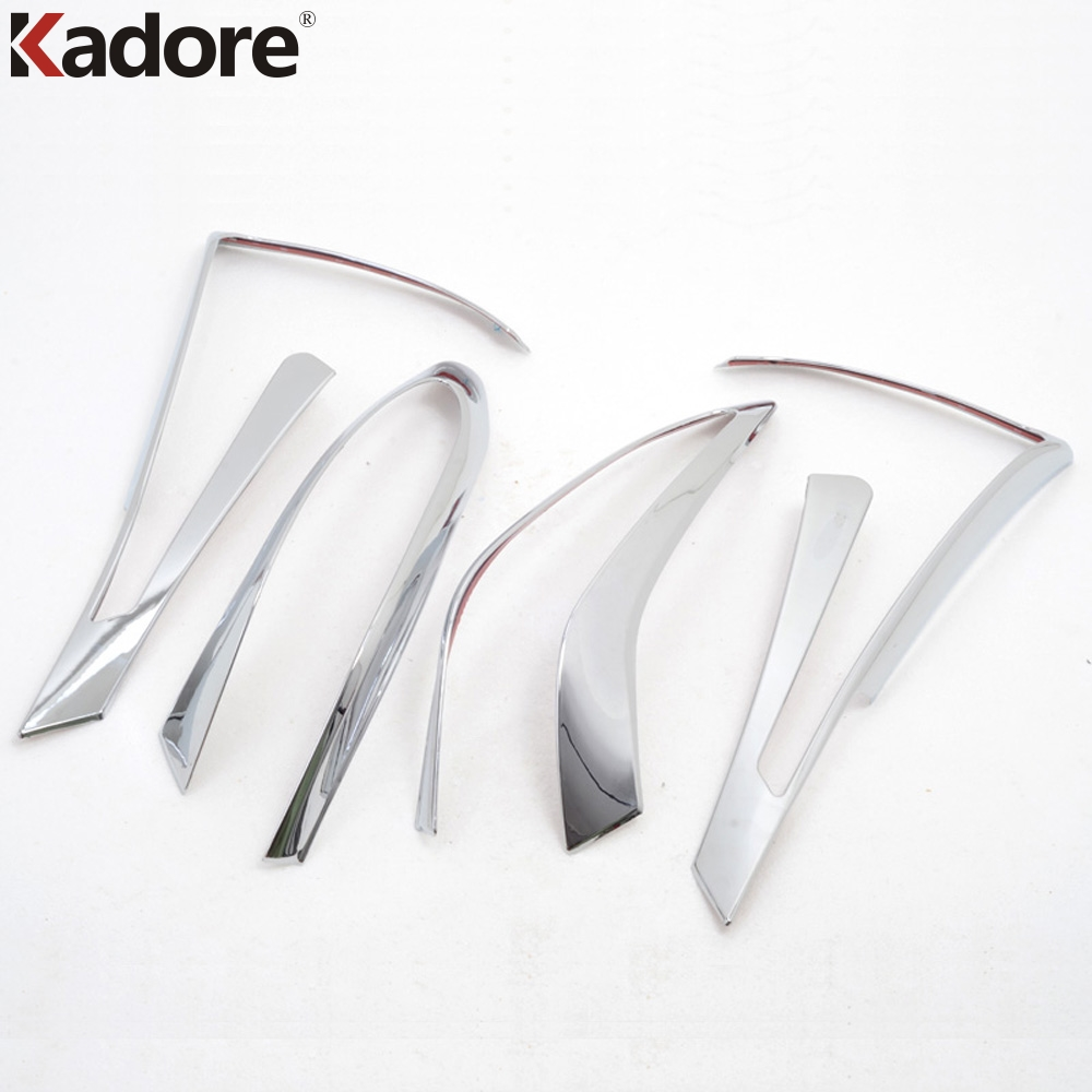 Kadore For Nissan Murano 2015 2016 ABS Chrome Auto Rear Back Light Lamp Cover Trim Taillight Shades Frames 4PCS/SET Car Styling
