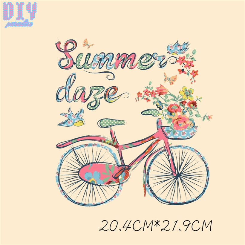 photograph about Printable Iron on Patches named US $0.98 18% OFFSummer Motorcycle Posted Iron Upon Patches for Garments Do-it-yourself Crafts Warm Go Patch Clothes T Blouse Applique Stickers-in just Patches against
