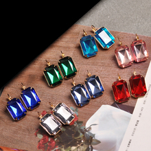 Hot and bright green purplish red, purple and blue pink and blue pink color women's birthday party earrings with beautiful earri