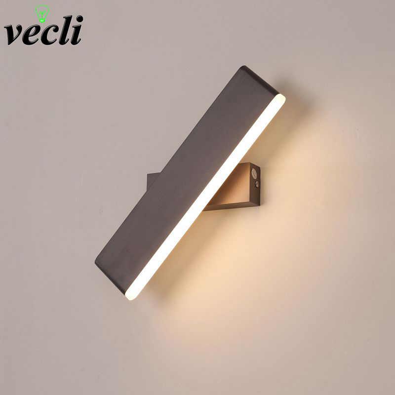 Modern LED Wall Lamp 360 degree rotation adjustable bedside light living room corridor Reading study sconces led luminaire lamps