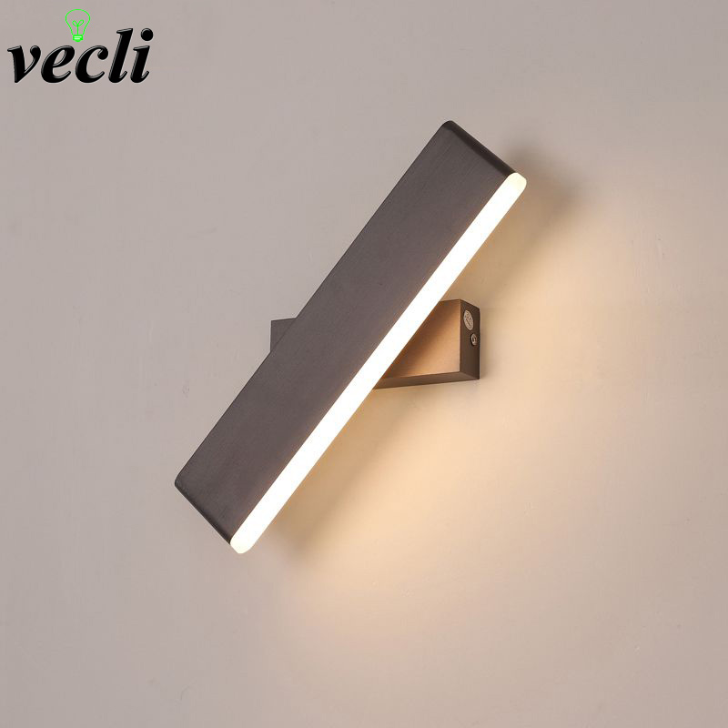 Modern LED Wall Lamp 360 degree rotation adjustable bedside light living room corridor Reading study sconces led luminaire lamps