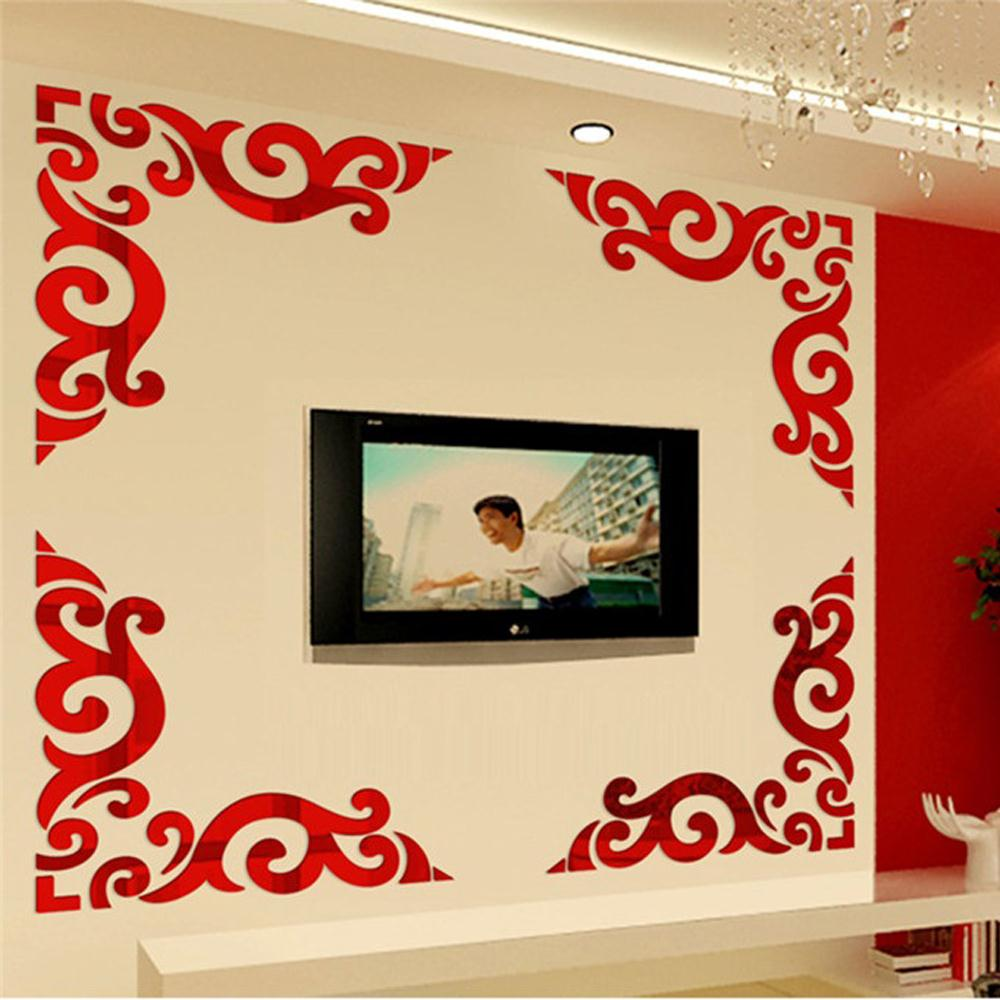 ⊹DIY Fashion Acrylic Wall Sticker for Living Room TV Background ...