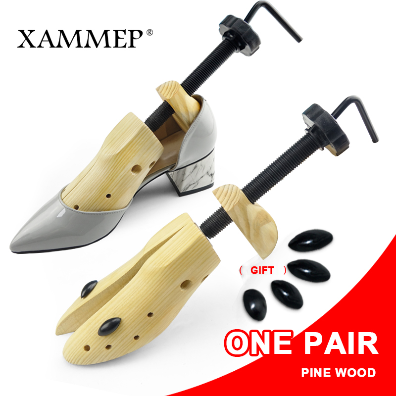 Shoe Tree 1 Pair Wooden Shoe Stretcher For Men and Women Genuine leather Shoes Expander shoes Width and height Adjustable Xammep fashion rabbit and grass pattern 10cm width wacky tie for men
